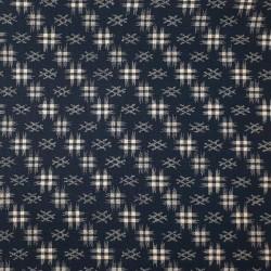 tissu japonais dièses fond indigo bleu nuit