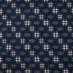 Japanese dark blue igeta pattern fabric