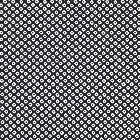 Kanoko pattern black japanese fabric