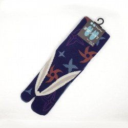 Japanese tabi socks with shuriken patterns