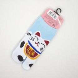 Chaussettes japonaises enfant chat porte-bonheur
