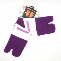 Japanese tabi socks with plum blossoms and arabesque patterns size 35 to 38