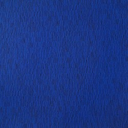 Electric blue fabric with graphic patterns