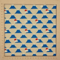Mt Fuji fabric with beige background