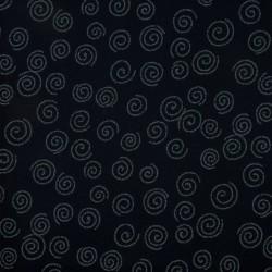 Tissu japonais indigo spirales