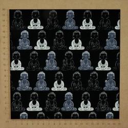 Tissu Bouddha noir