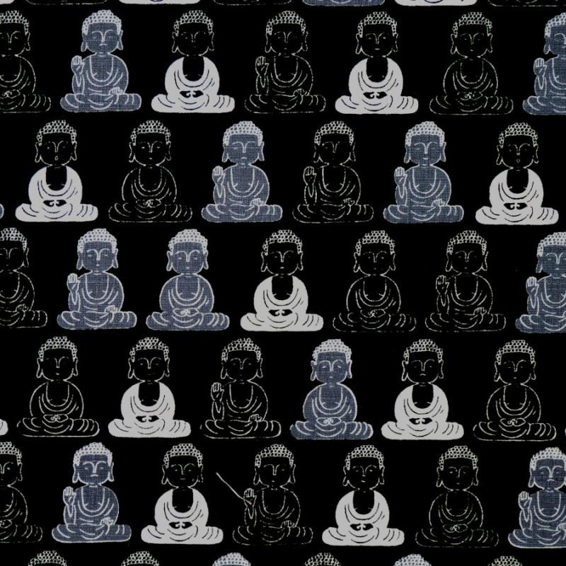 Tissu noir Bouddha