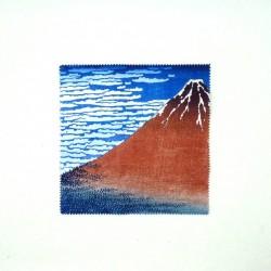 Etui à lunettes rigide Mt Fuji Hokusai et microfibre