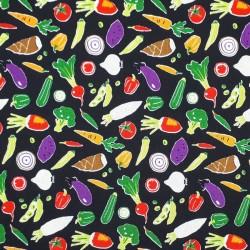 Vegetables black fabric