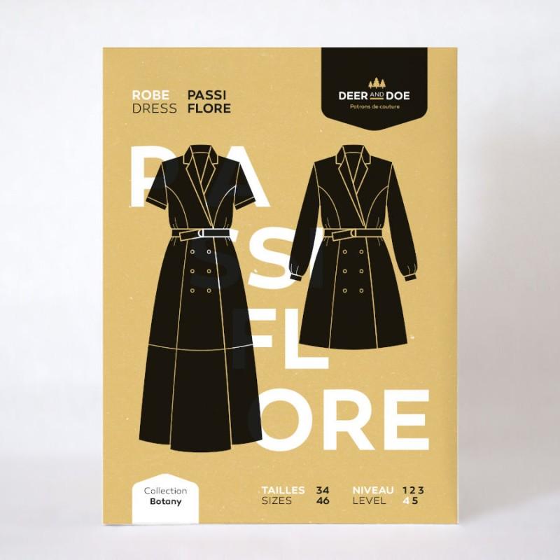 Passiflore dress shirt and coat pattern - Deer and Doe brand