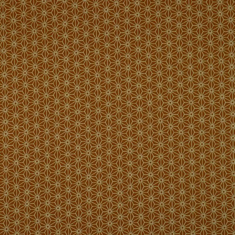 tissu orange petit asnoaha écru