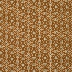 Tissu japonais orange motifs asanoha