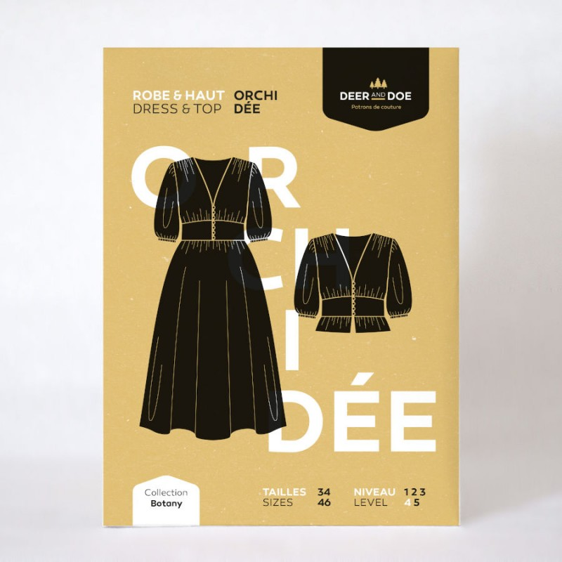Orchidée dress and top pattern - Deer and Doe brand