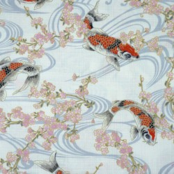 Japanese fabric with koi...