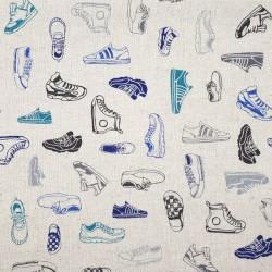 Tissu baskets sneakers en coton-lin