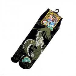 Chaussettes tabi noires et kaki dragon et Mt Fuji. Pointure 44 45 46 47.