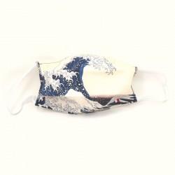 Masque en tissu La Grande Vague de Hokusai (catégorie 1)
