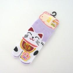 Purple Japanese tabi socks...