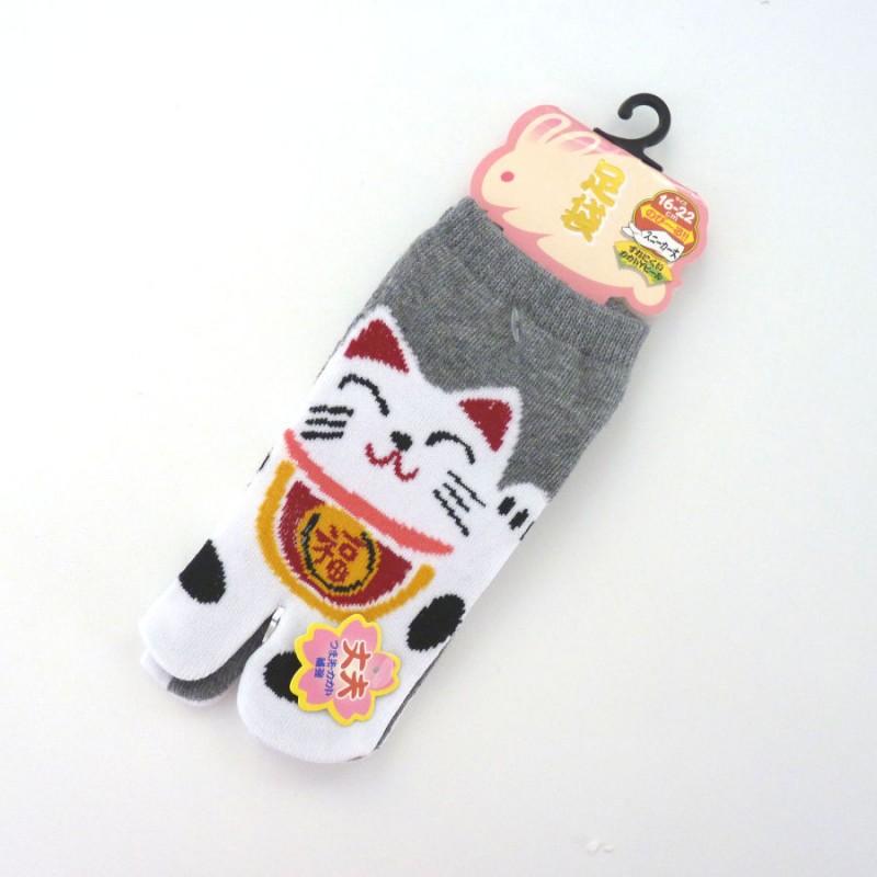 Chaussettes tabi petits pieds avec chats porte-bonheur