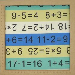 Tissu pour la rentrée avec calculs mathématiques