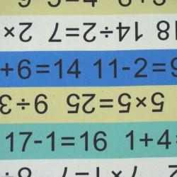 Tissu trousse sac école avec mathématiques