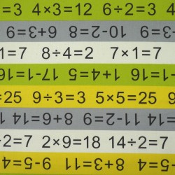 School and mathematics fabric with calculations