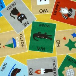 Tissu à motifs rigolos pour apprendre du vocabulaire japonais