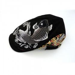 Japanese flat cap grey carp