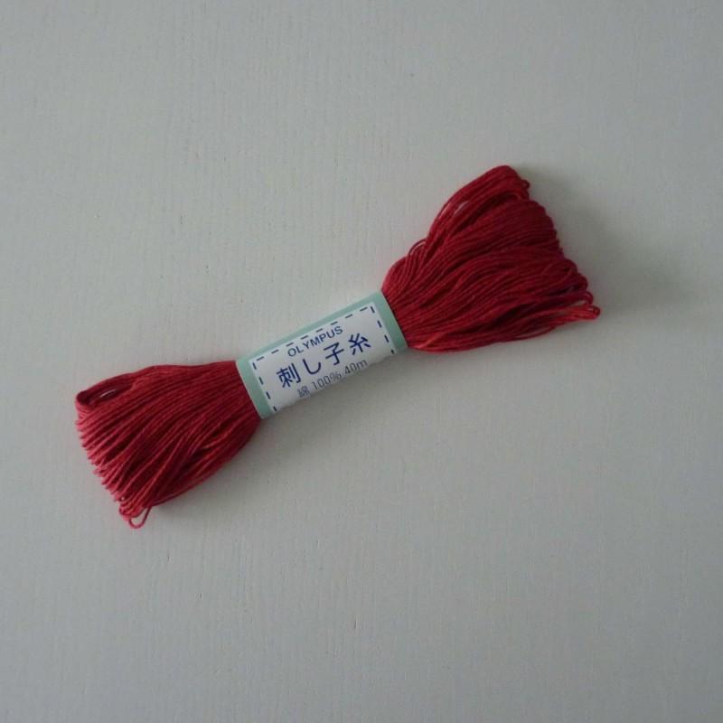 Fil rouge foncé pour sashiko 20m (12)