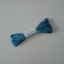 Fil mix de bleus pour sashiko 20m (72)