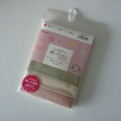 Pack de 3 coupons pour sashiko rose, rose pâle et vert