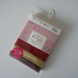 Pack de 3 coupons pour sashiko rouge,jaune ocre,marron