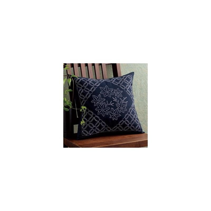Kit sashiko coussin feuilles d'érable