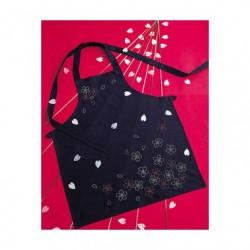 Kit sashiko tablier fleurs de cerisier