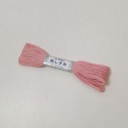 Fil rose pâle pour sashiko 20m (14)