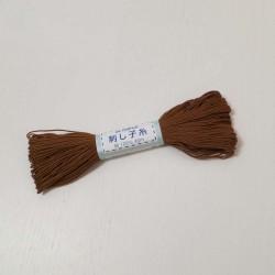 Fil marron pour sashiko 20m (3)