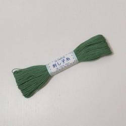 Fil vert foncé pour sashiko...