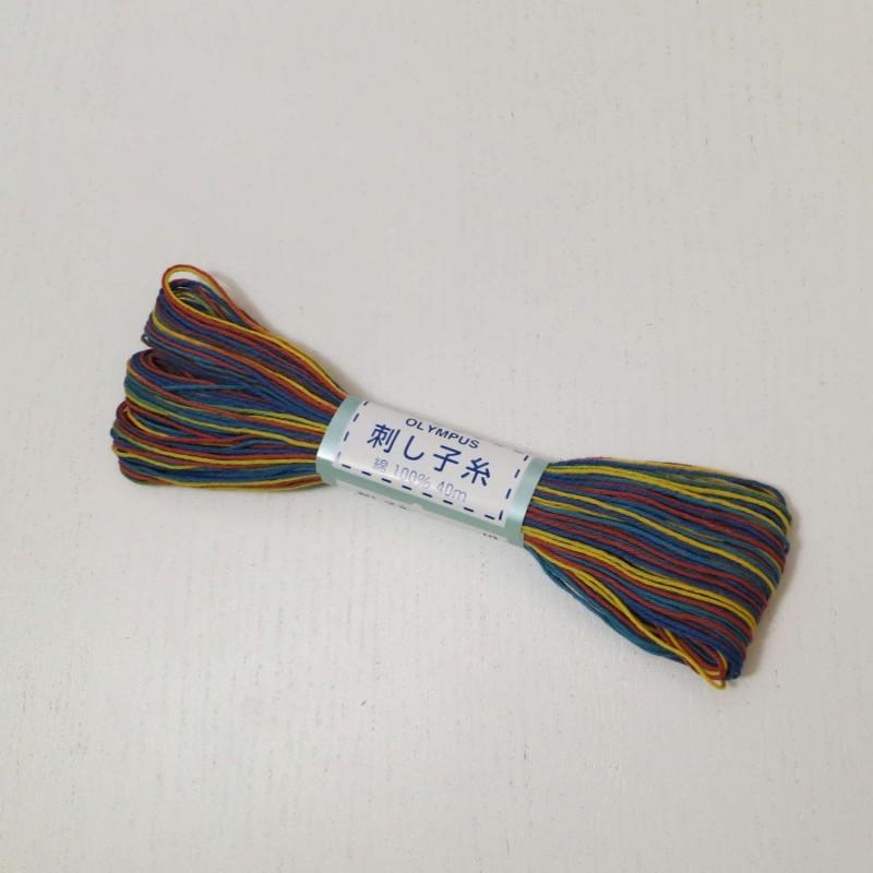 Fil multicolore pour sashiko 20m (74)