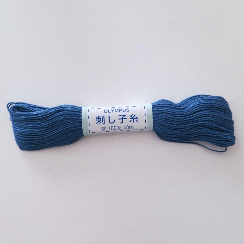 Fil bleu pour sashiko 20m (23)
