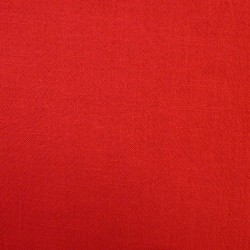 Toile coton rouge vif pour...