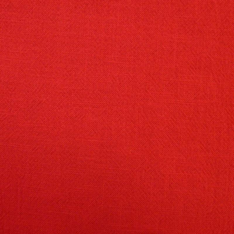 Toile coton rouge vif pour sashiko (souple)
