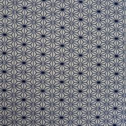 tissu japonais asanoha écru et indigo