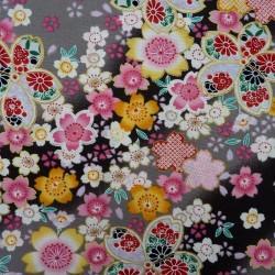 Tissu japonais gris clair...