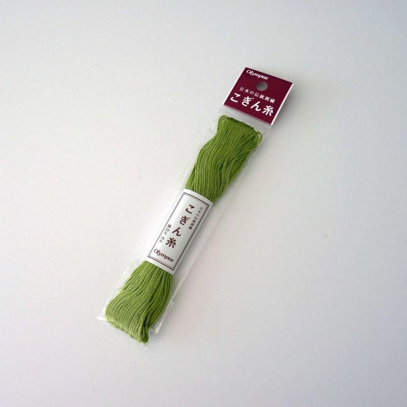 Fil vert tilleul pour broderie kogin 18m (212)