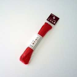 Fil rouge vif pour broderie...