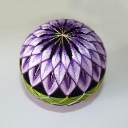 Kit balle à broder temari chrysanthème