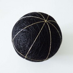 Balle temari noire 8 divisions 9cm