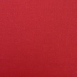 Tissu coton uni rouge vif
