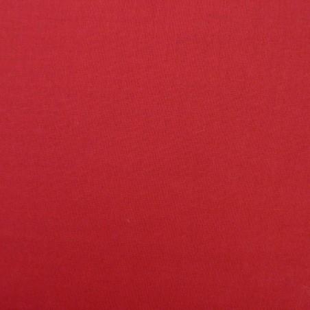 Tissu coton uni rouge foncé