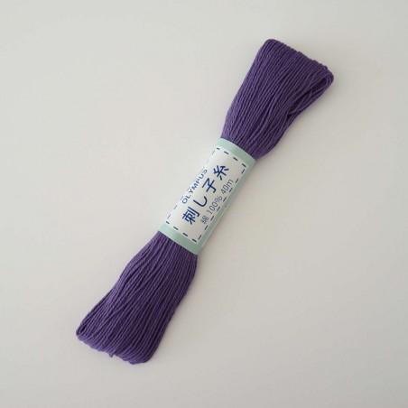 Fil violet pour broderie sashiko 20m